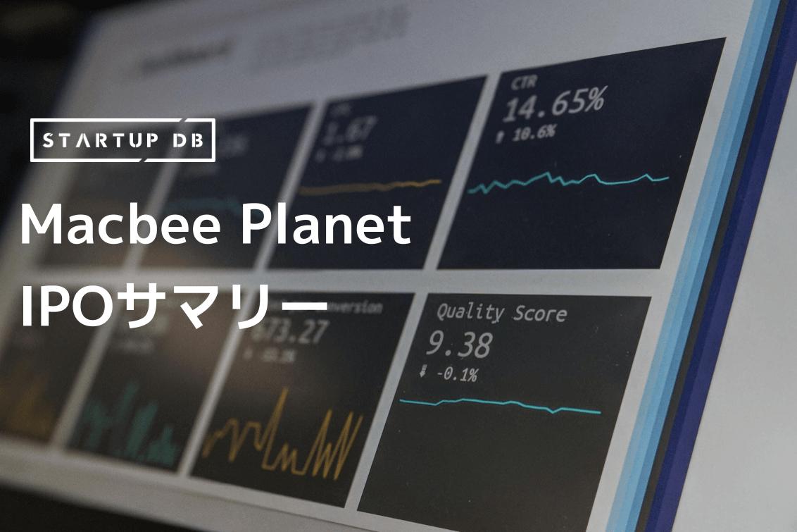 マーケティング分析サービス提供「Macbee Planet」のIPOサマリー
