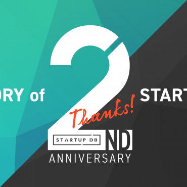 STARTUP DB 2周年記念インフォグラフィック