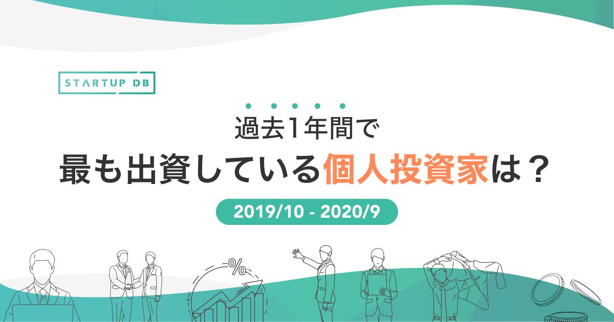 過去1年間で、出資件数の多い個人投資家18名!(2019/10-2020/09)(リリース日:2020/10/20)