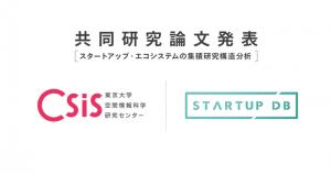 東京大学と共同研究「東京23区におけるスタートアップ・エコシステムの集積研究構造分析」発表