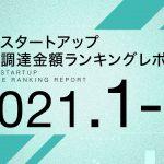 国内スタートアップ資金調達ランキング(2021年1月-3月)